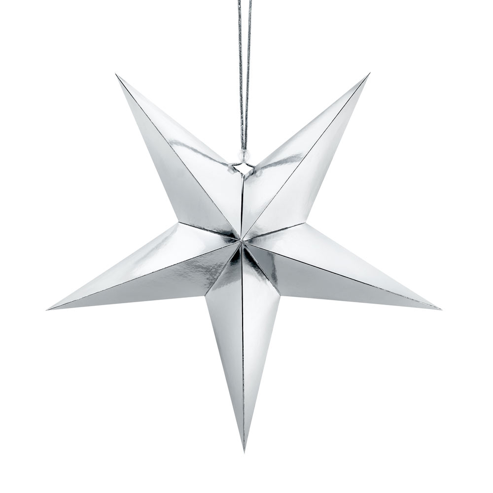 Large Silver Paper Star 70cm