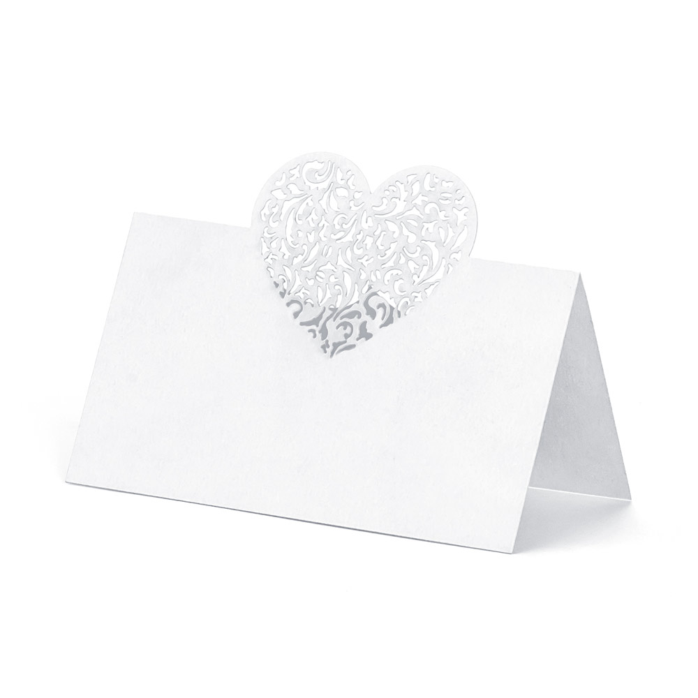 Die Cut Heart Place Cards