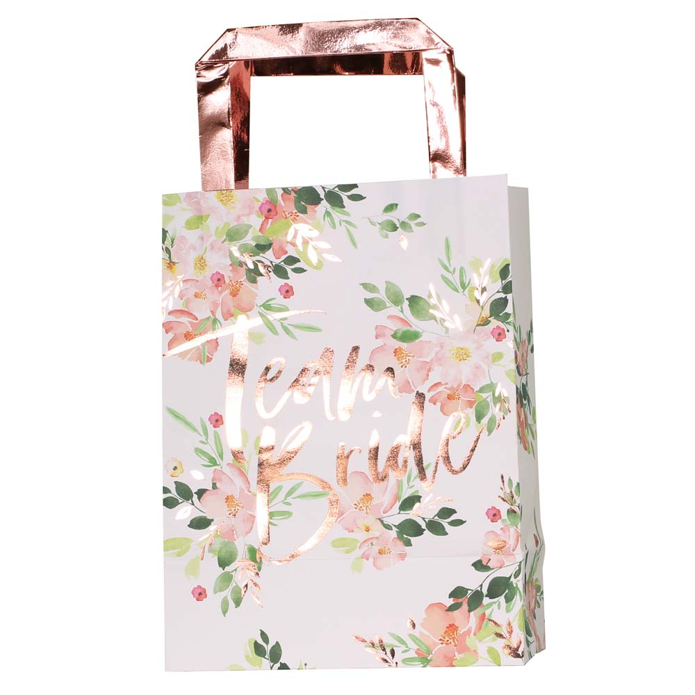 Floral Team Bride Hen Party Bags