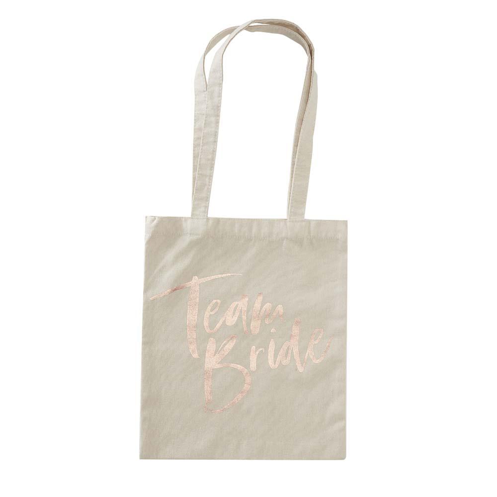 Team Bride Printed Tote Bag