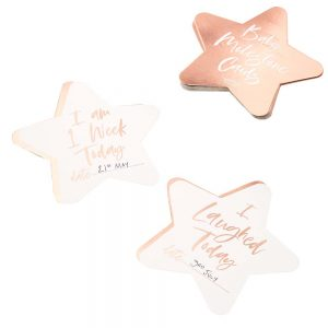 Rose Gold Foiled Star Milestone Cards