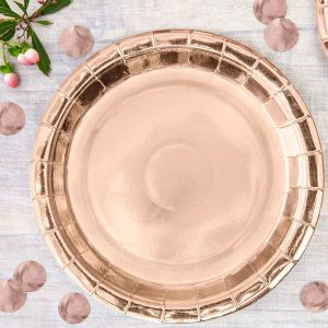 Rose Gold Paper Plates - 23cm