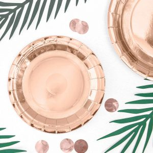 Rose Gold Paper Plates - 18cm
