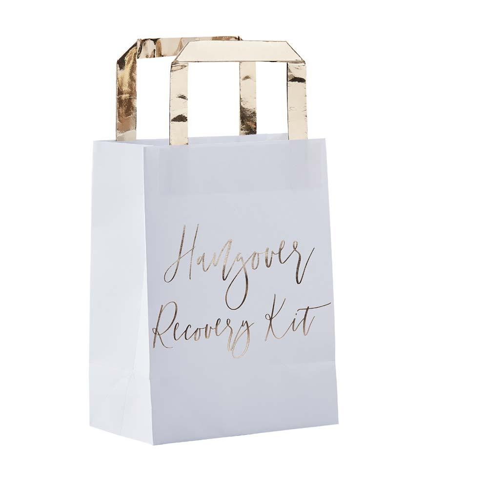 Gold Hangover Recovery Kit Bags