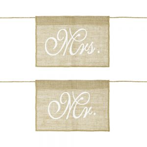 Mr & Mrs Hessian Chair Signs