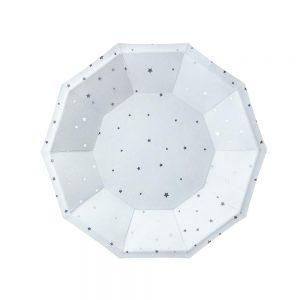 Light Blue & Silver Star Plates