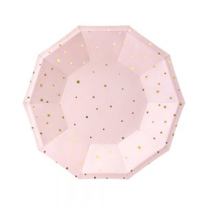 Light Pink & Gold Star Plates