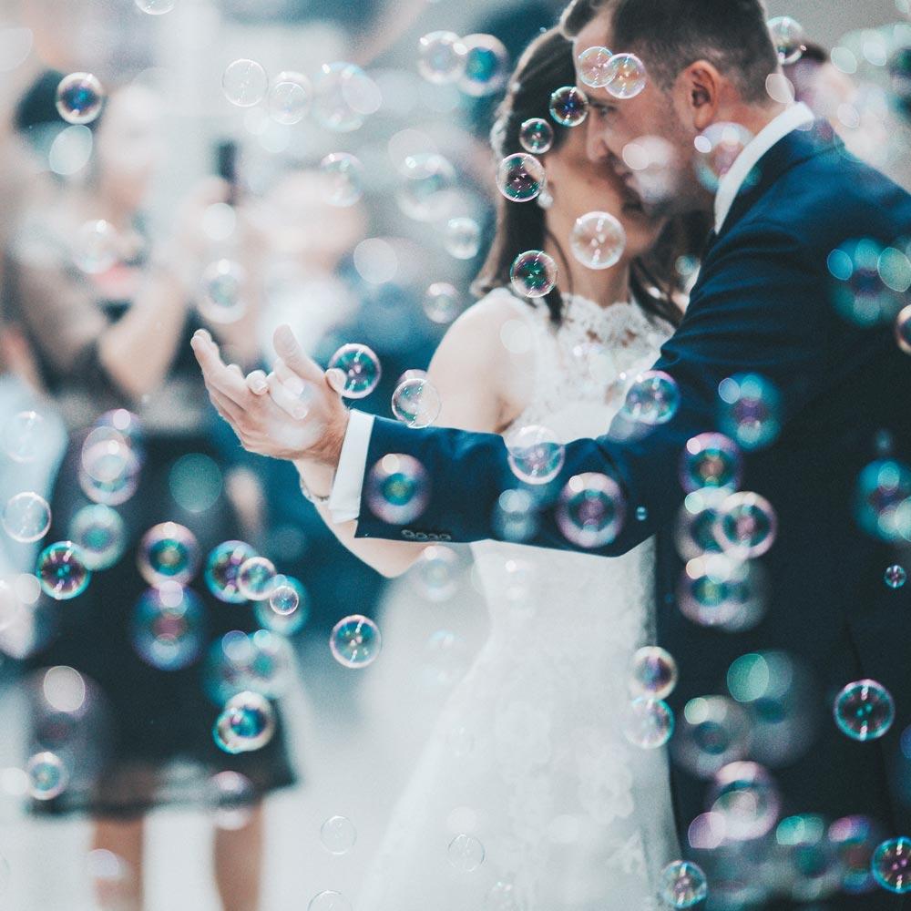 48 Heart Wedding Bubbles Tubes