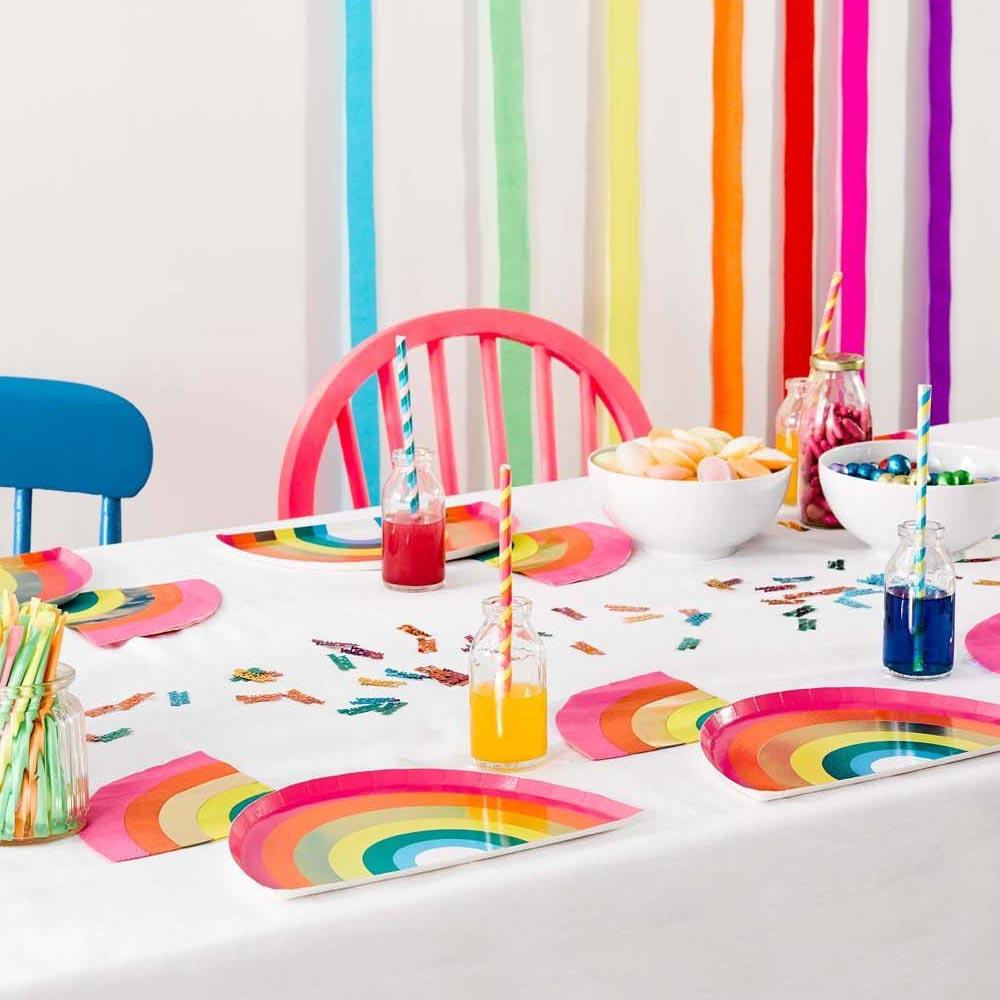 Rainbow Party Plates