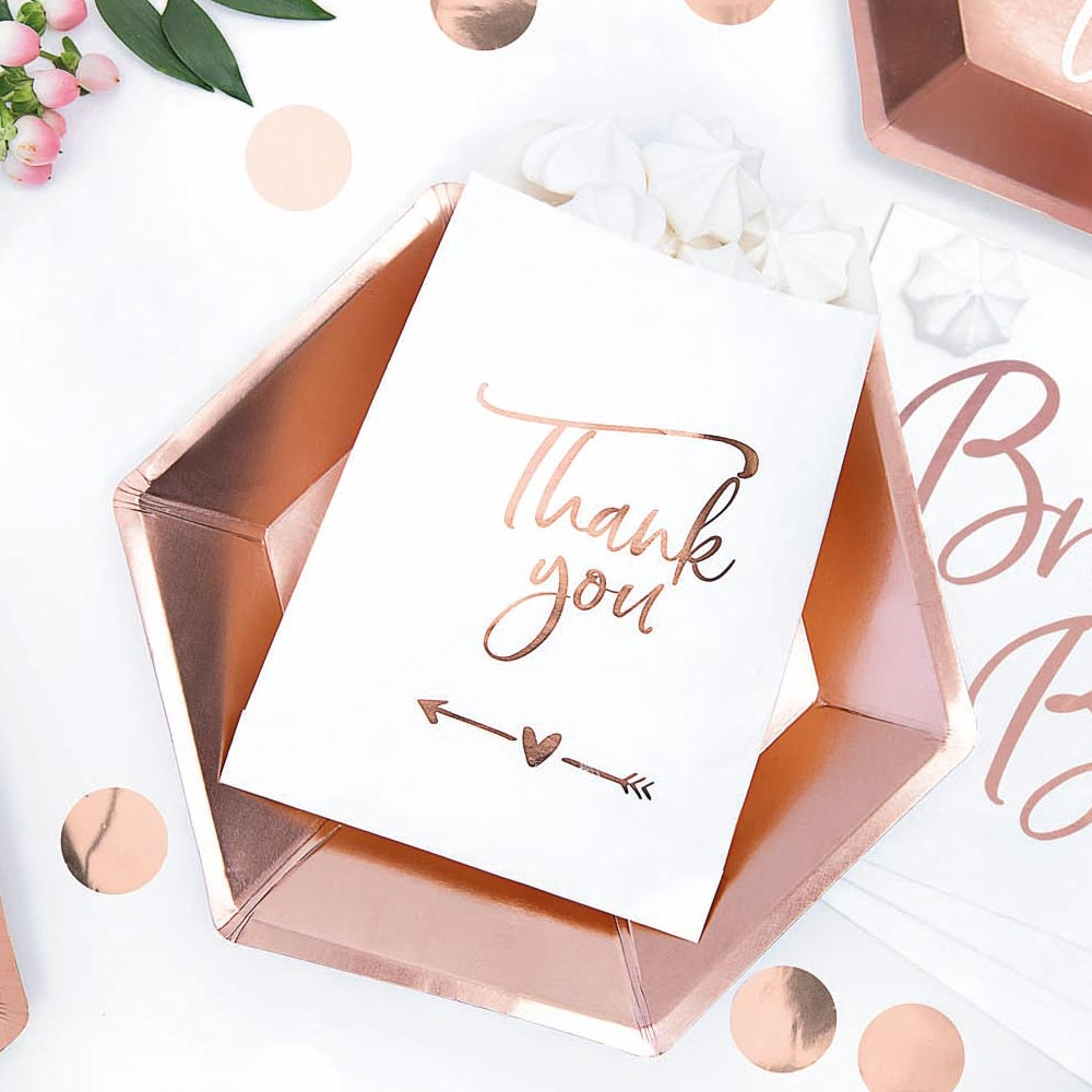 Rose Gold Thank You Sweet Bags