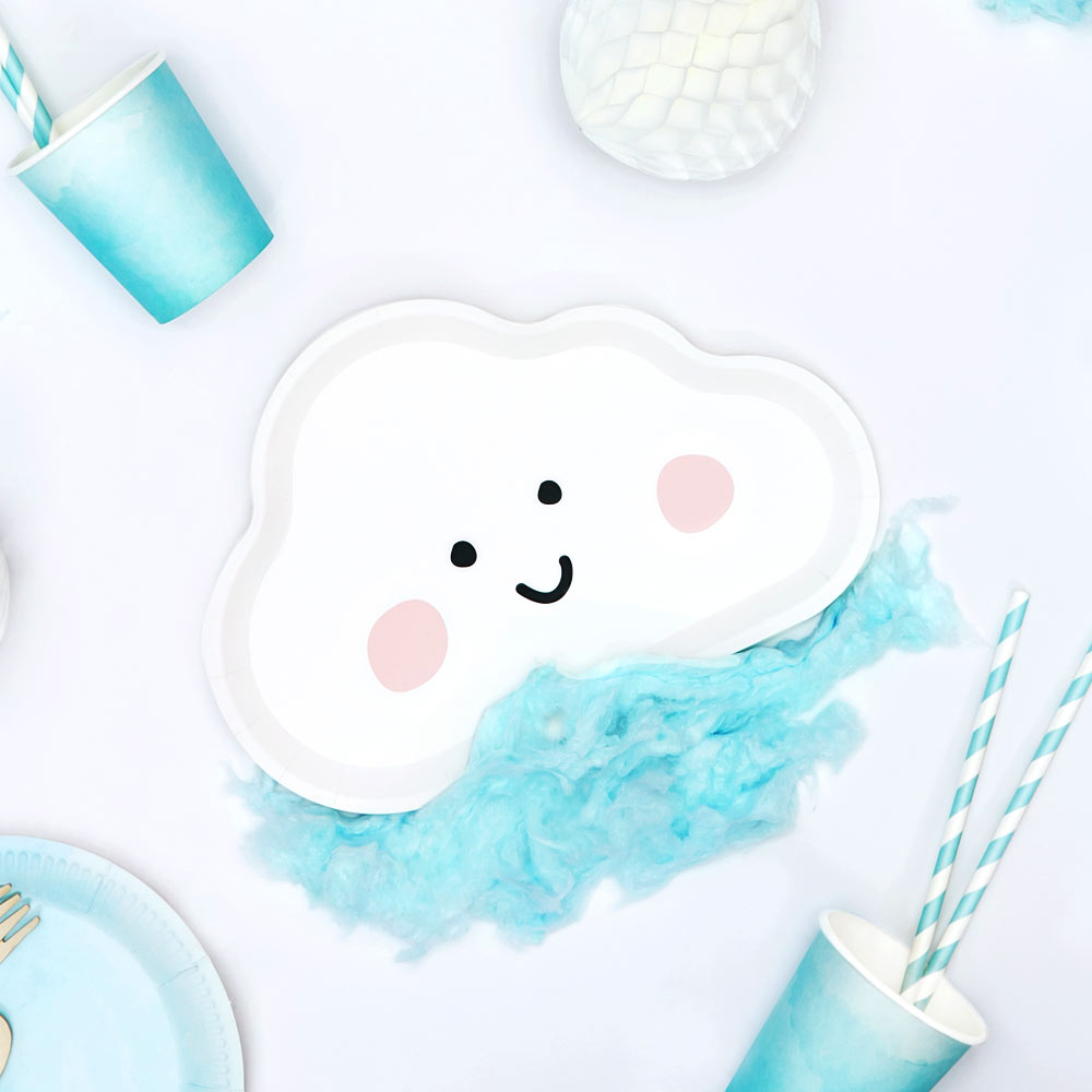 Cute Cloud Paper Plates