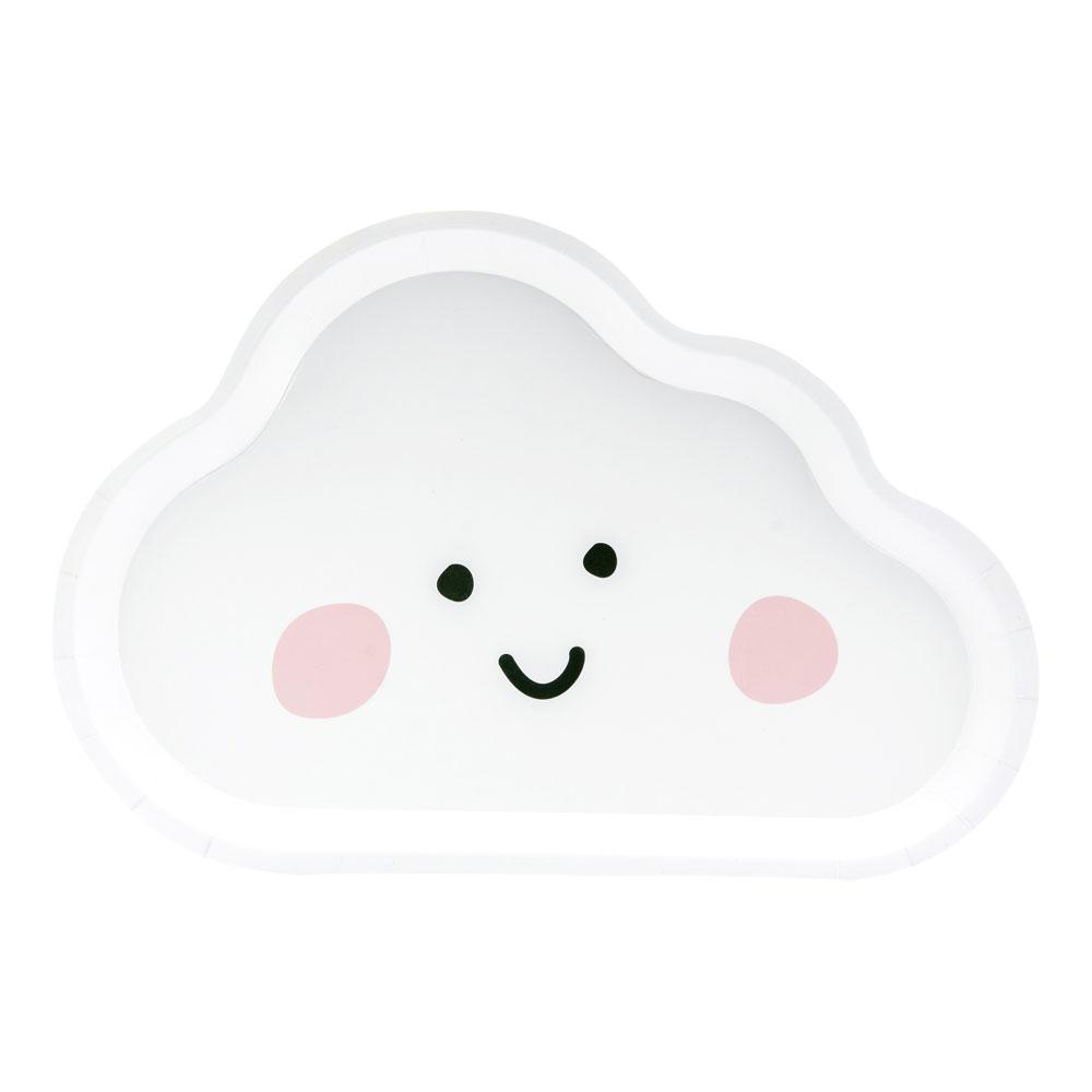 Cute Cloud Paper Plates